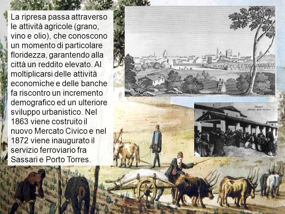 La ripresa passa attraverso le attività agricole (grano, vino e olio), che conoscono un momento di particolare floridezza, garantendo alla città un re