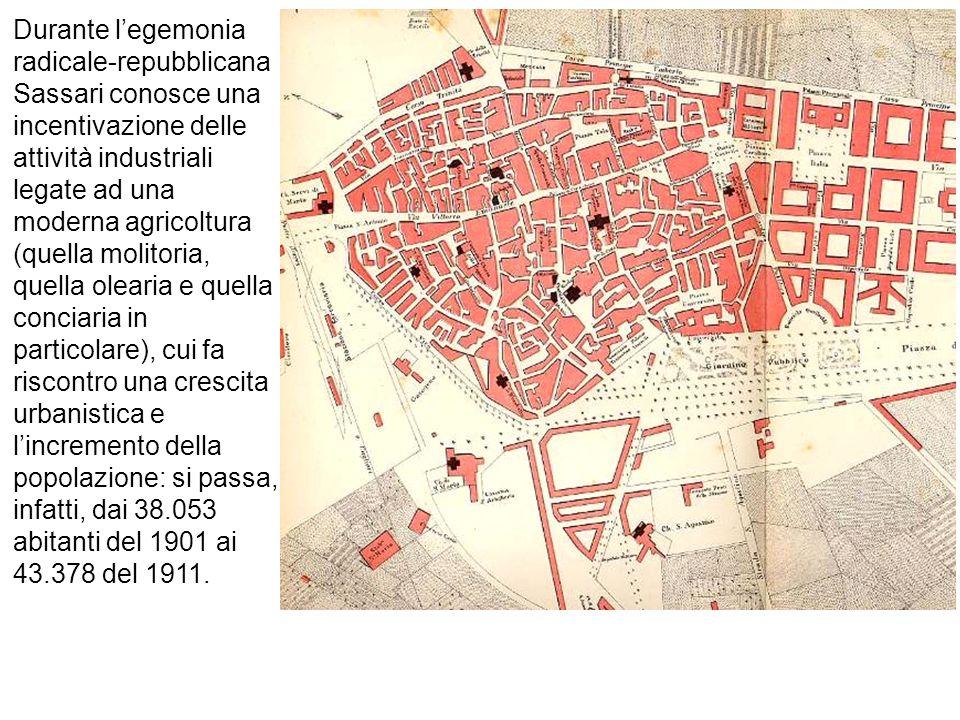 In questo periodo Sassari attraversa un momento di particolare sviluppo economico, caratterizzato dagli alti prezzi dei prodotti agricoli (soprattutto olio e formaggio) e dei fitti agrari.