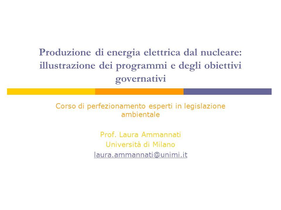 12 Autorità di regolazione indipendente Autorité de Sureté Nucleaire (ASN) creata con L.