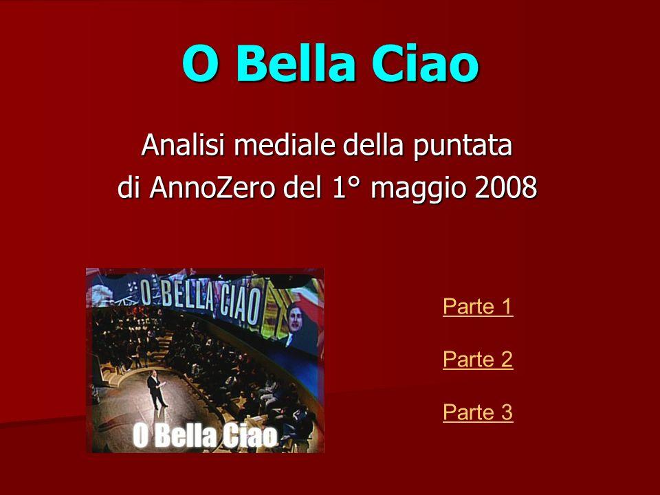 Analisi mediale della puntata di AnnoZero del 1° maggio 2008 Parte 1 Parte 2 Parte 3 O Bella Ciao