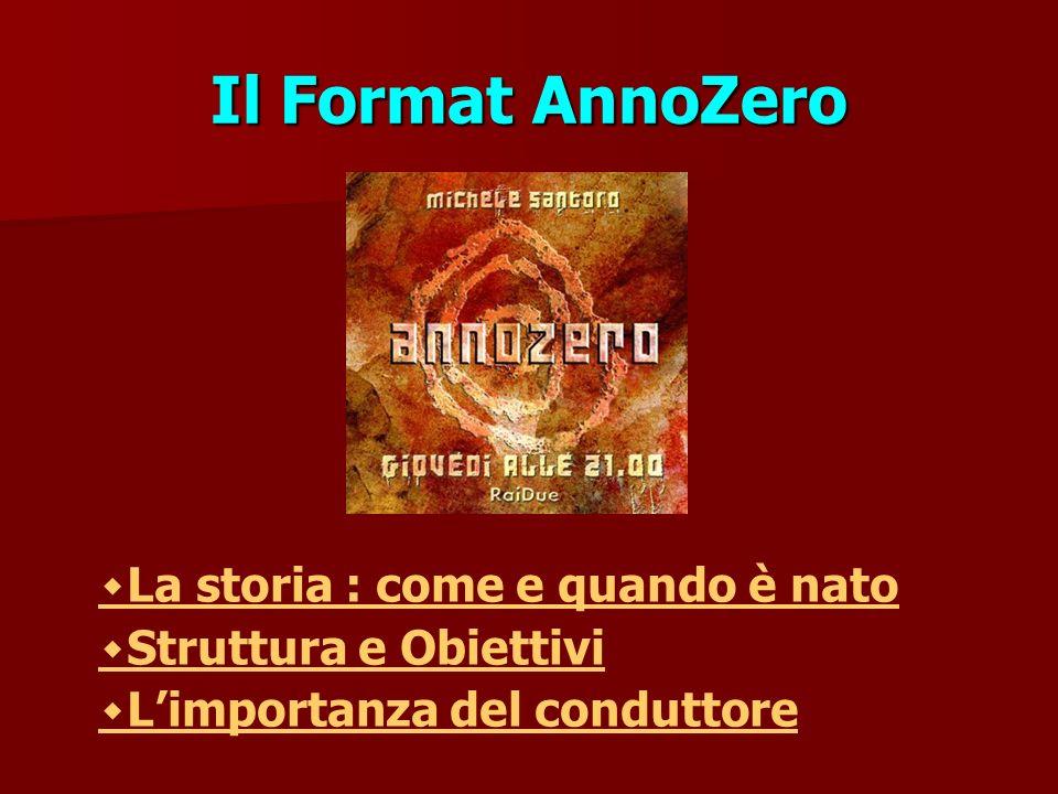 Il Format AnnoZero ٠La storia : come e quando è nato ٠Struttura e Obiettivi ٠Limportanza del conduttore
