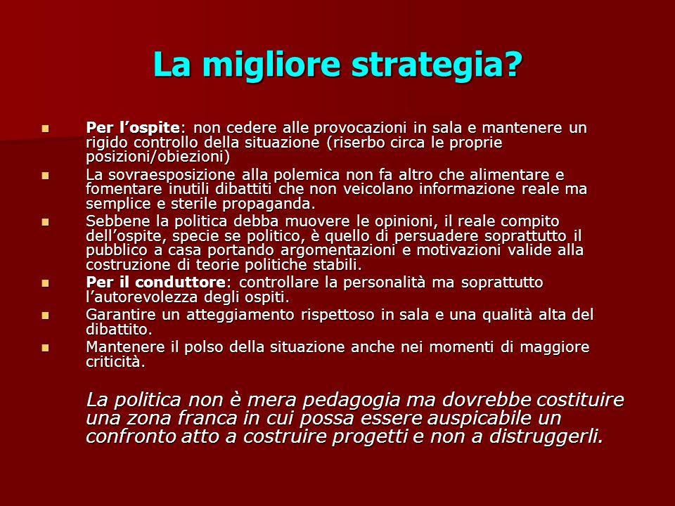 La migliore strategia.