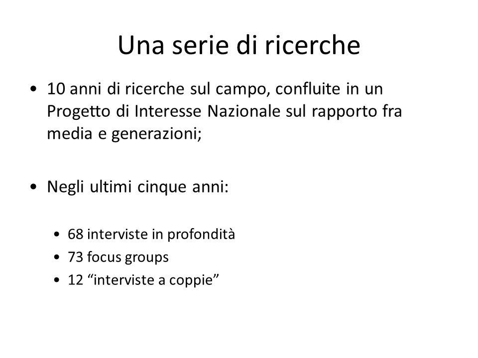 Pubblicazioni e dissemination P.Aroldi, F. Colombo (eds.), Le età della Tv, V&P, Milano 2002 P.