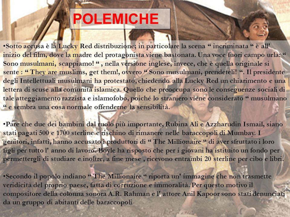 POLEMICHE Sotto accusa è la Lucky Red distribuzione; in particolare la scena incriminata è all' inizio del film, dove la madre del protagonista viene