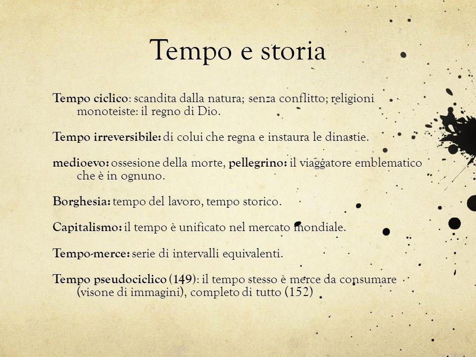 Tempo e storia Tempo ciclico : scandita dalla natura; senza conflitto; religioni monoteiste: il regno di Dio. Tempo irreversibile: di colui che regna