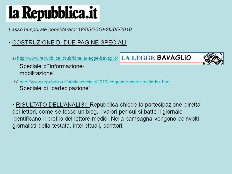 a) Speciale dinformazione- mobilitazione 24 maggio LE INIZIATIVE Duecentoventimila no alla legge Sarà una settimana di sit-in 220mila no alla Legge Bavaglio.