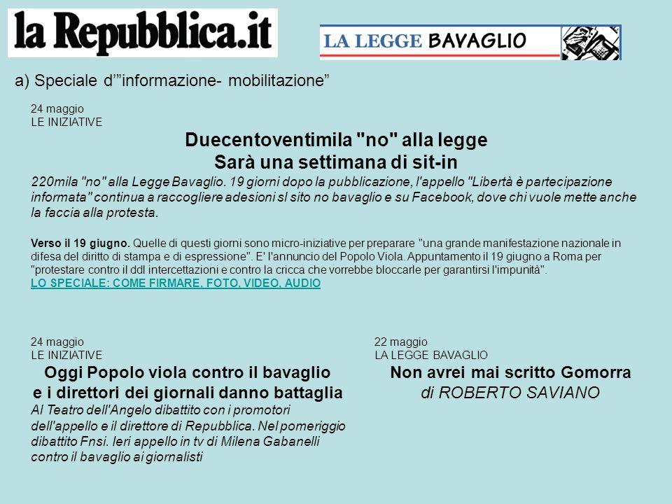 24 maggio: il cambio di retorica Intercettazioni, il fronte comune dei direttori Un fronte comune e compatto dei direttori degli organi di informazione italiani contro il ddl intercettazioni.