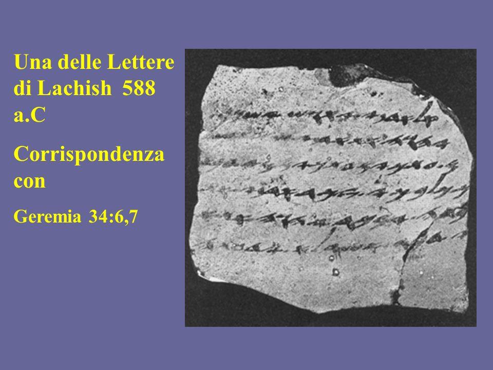 Una delle Lettere di Lachish 588 a.C Corrispondenza con Geremia 34:6,7