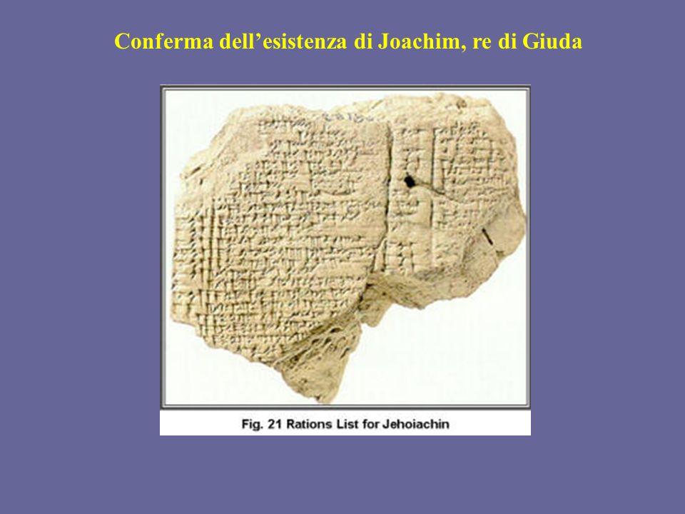 Conferma dellesistenza di Joachim, re di Giuda