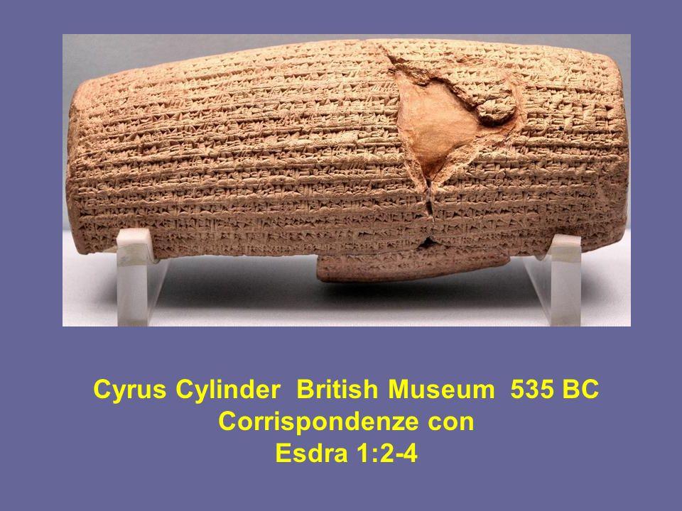 Cyrus Cylinder British Museum 535 BC Corrispondenze con Esdra 1:2-4
