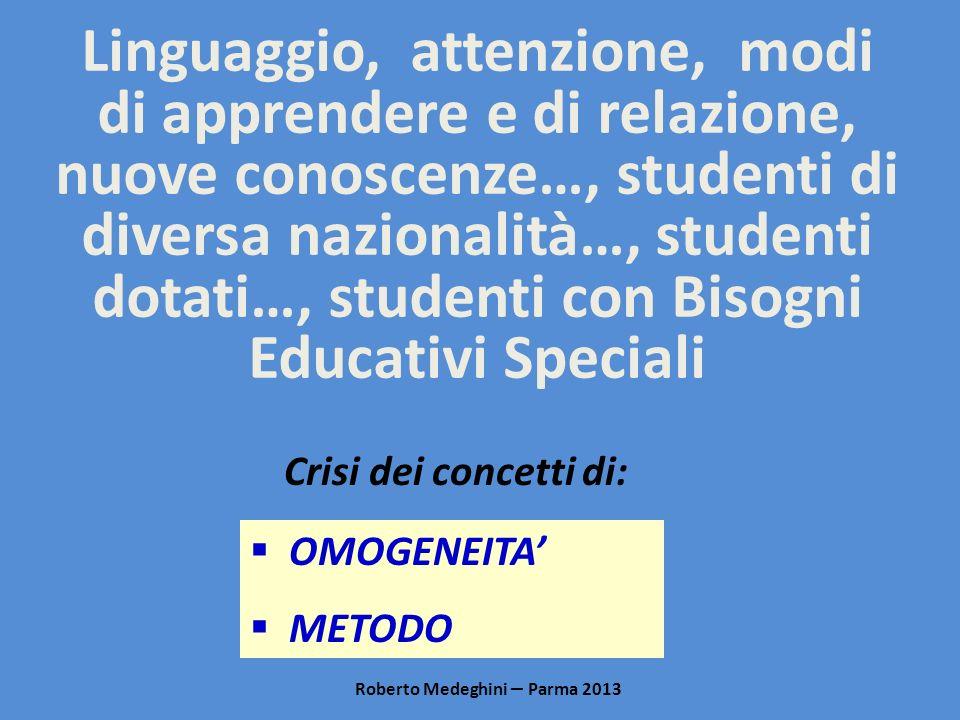 Linguaggio, attenzione, modi di apprendere e di relazione, nuove conoscenze…, studenti di diversa nazionalità…, studenti dotati…, studenti con Bisogni