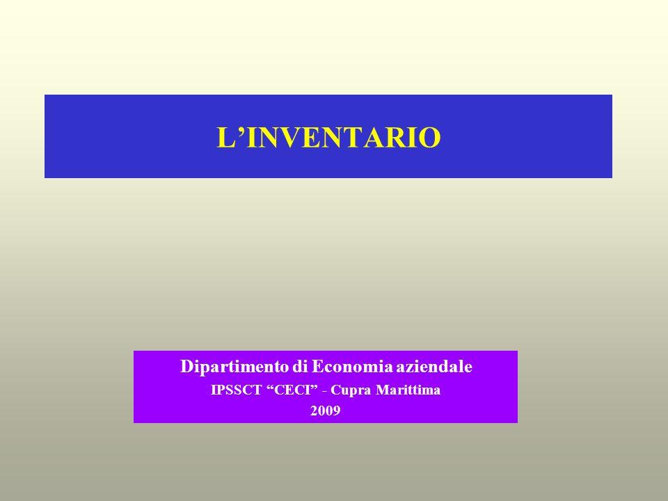 LINVENTARIO Dipartimento di Economia aziendale IPSSCT CECI - Cupra Marittima 2009