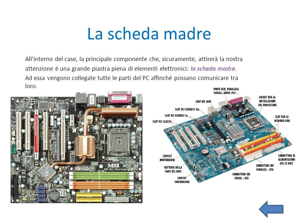 Scheda audio Una scheda audio è una scheda di espansione che si occupa di trasformare un flusso audio digitale in un segnale analogico, riprodotto da un set di altoparlanti.