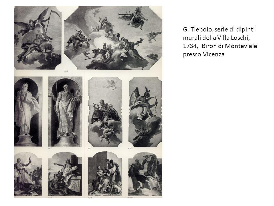 G. Tiepolo, serie di dipinti murali della Villa Loschi, 1734, Biron di Monteviale presso Vicenza