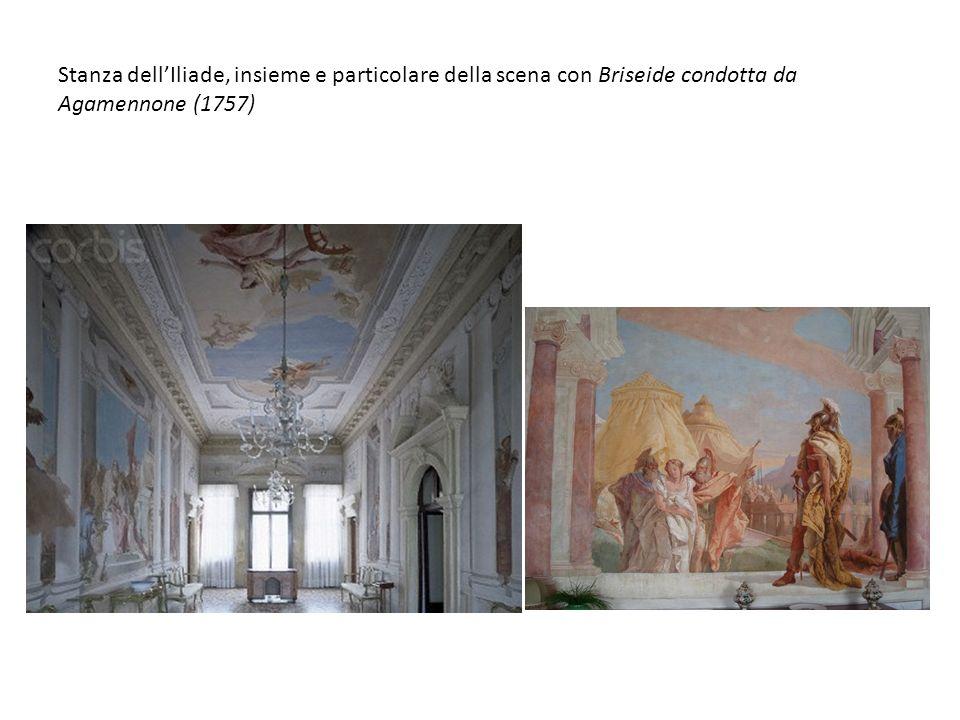 Stanza dellIliade, insieme e particolare della scena con Briseide condotta da Agamennone (1757)