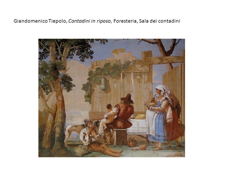 Giandomenico Tiepolo, Contadini in riposo, Foresteria, Sala dei contadini