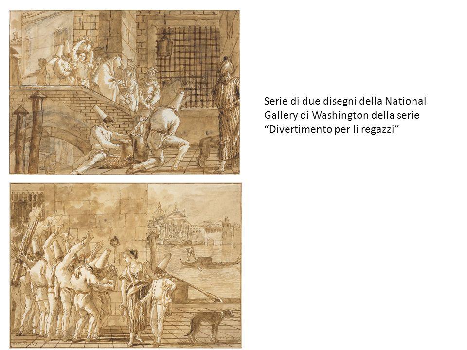 Serie di due disegni della National Gallery di Washington della serie Divertimento per li regazzi
