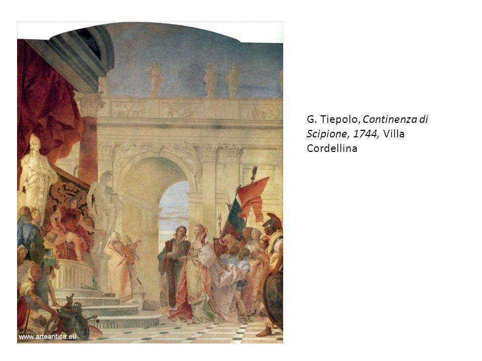 G. Tiepolo, Continenza di Scipione, 1744, Villa Cordellina