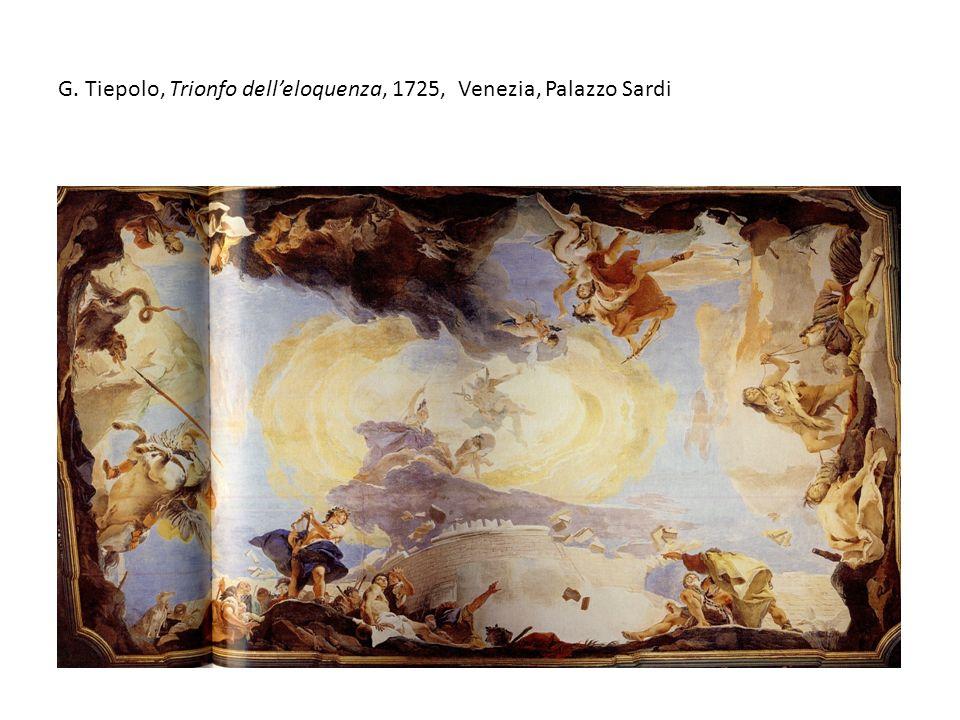 G. Tiepolo, Trionfo delleloquenza, 1725, Venezia, Palazzo Sardi
