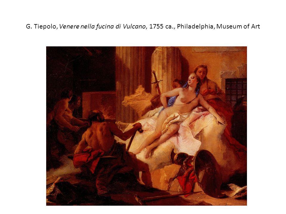 G. Tiepolo, Venere nella fucina di Vulcano, 1755 ca., Philadelphia, Museum of Art