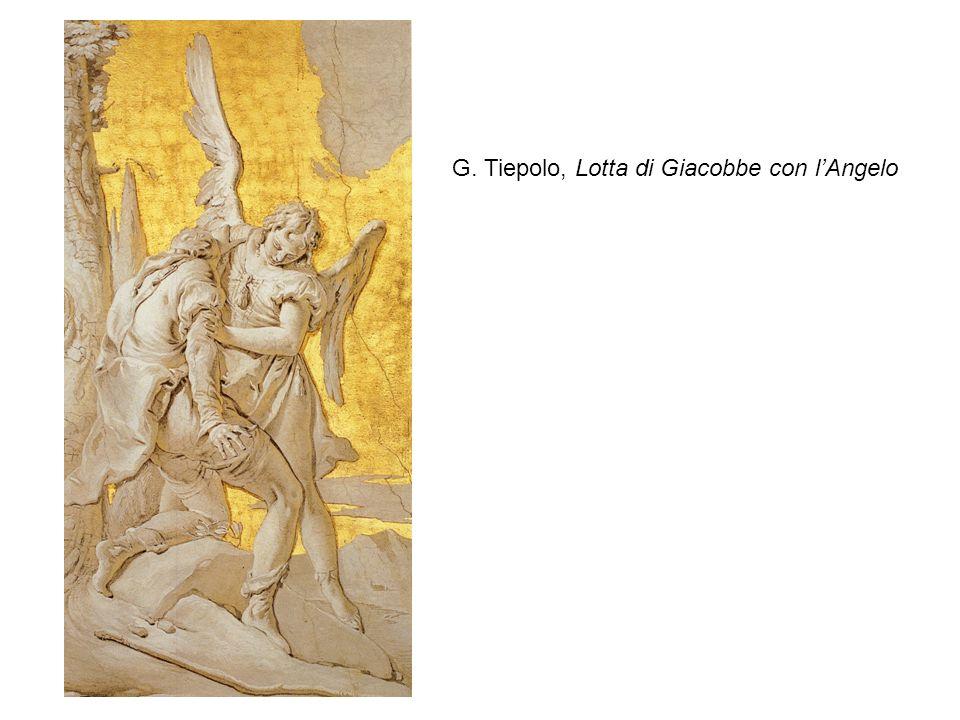 G. Tiepolo, Lotta di Giacobbe con lAngelo