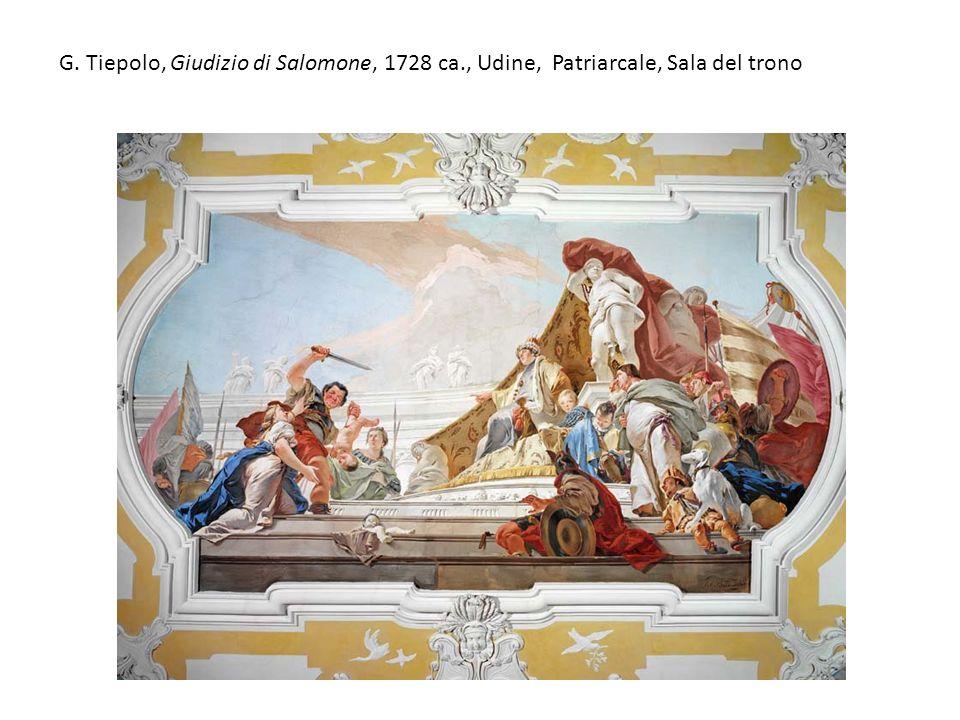 G. Tiepolo, Giudizio di Salomone, 1728 ca., Udine, Patriarcale, Sala del trono