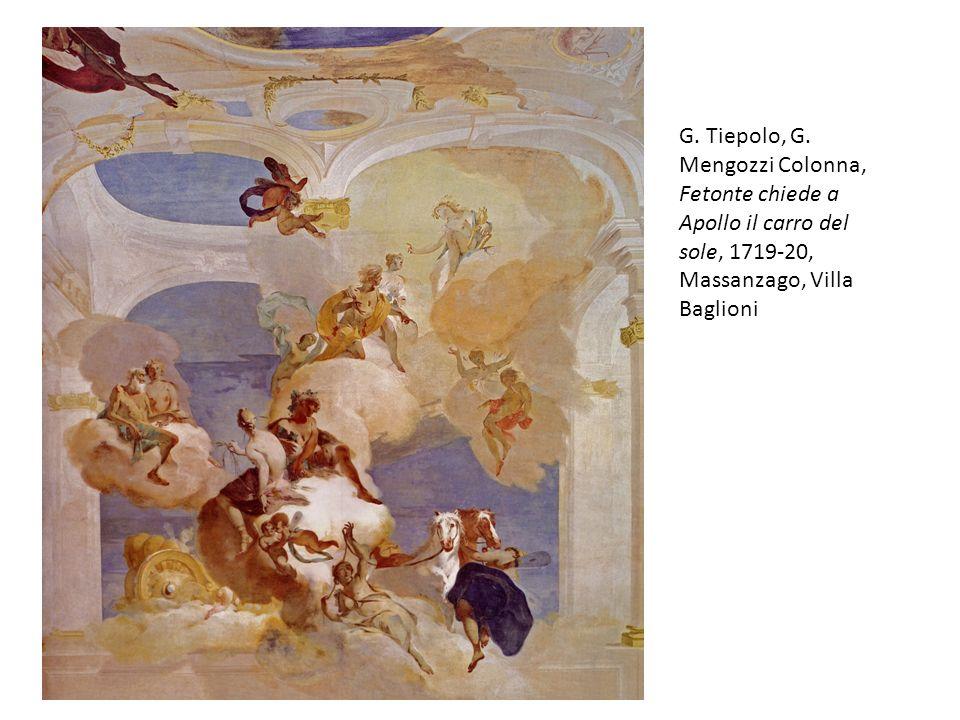 G. Tiepolo, G. Mengozzi Colonna, Fetonte chiede a Apollo il carro del sole, 1719-20, Massanzago, Villa Baglioni