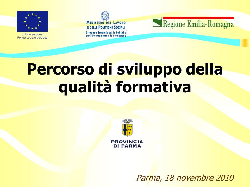 Percorso di sviluppo della qualità formativa Parma, 18 novembre 2010 -