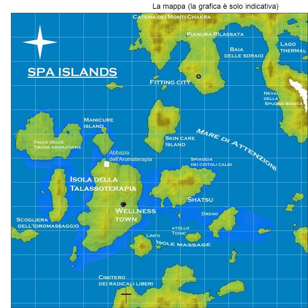 SPA ISLANDS La mappa (la grafica è solo indicativa) Isola della Talassoterapia