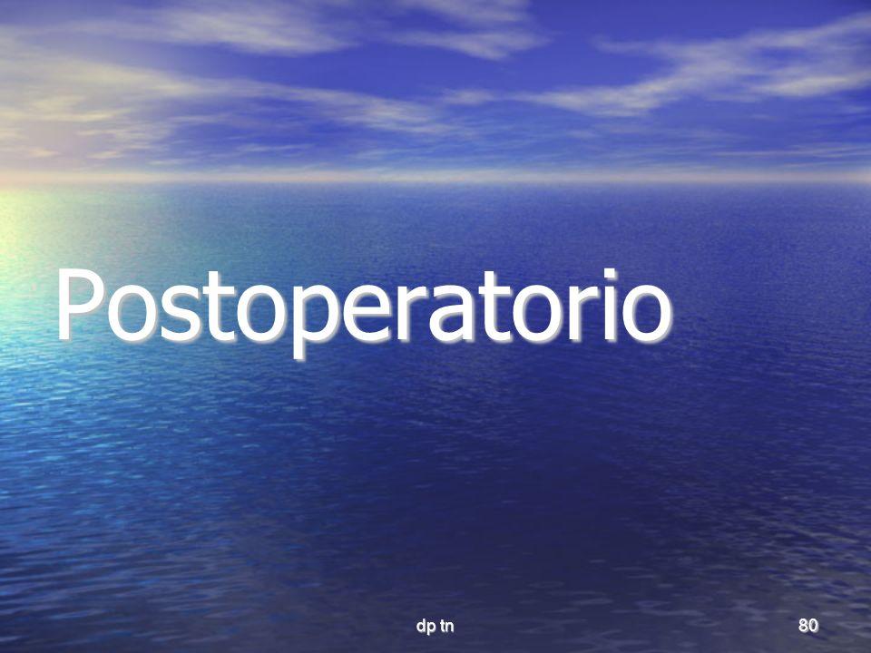 dp tn80 Postoperatorio
