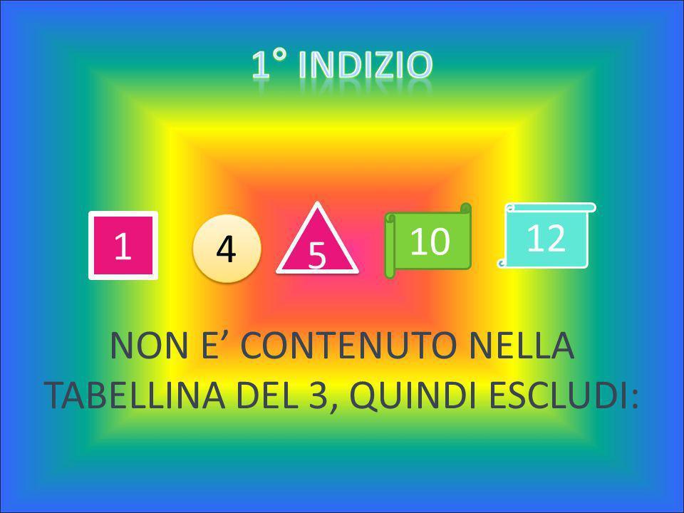 Il numero è contenuto tra questi: 1 – 4 – 5 – 10 – 12 Il numero è contenuto tra questi: 1 – 4 – 5 – 10 – 12