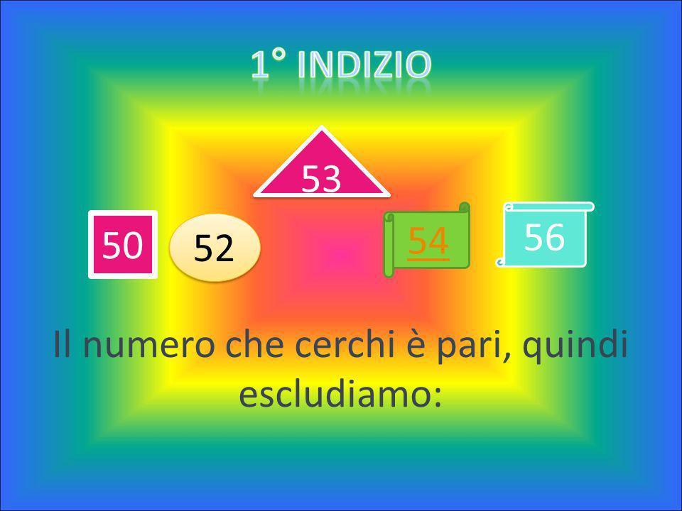 Il numero è contenuto tra questi: 50 – 52 – 53 – 54 – 56 Il numero è contenuto tra questi: 50 – 52 – 53 – 54 – 56