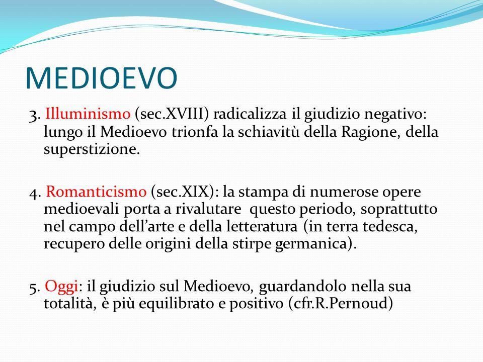 MEDIOEVO Periodizzazione e suddivisione