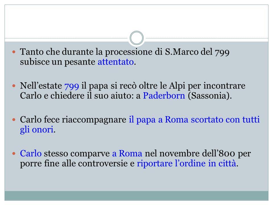 1° dicembre riunione a S.Pietro.Presenti Leone e Carlo.