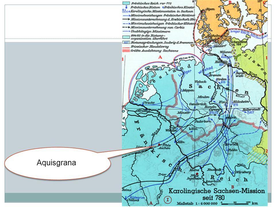 Nel 786 Carlo iniziò la costruzione del palazzo ad Aquisgrana.