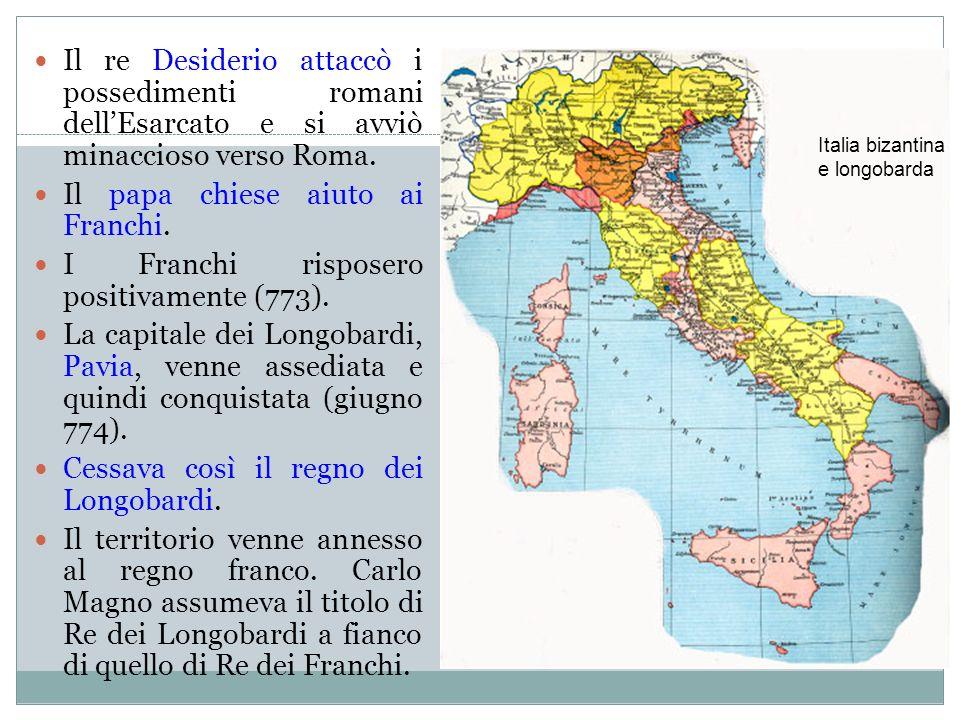 Pasqua 774: Carlo a Roma Mentre lesercito franco assediava Pavia, Carlo si spinse a Roma: sulla tomba di Pietro papa Adriano I e Carlo 1.