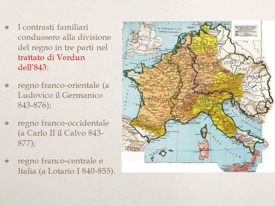870: Trattato di Meersen : Ludovico il Germanico e Carlo il Calvo si spartirono il regno della Lotaringia del defunto nipote Lotario II