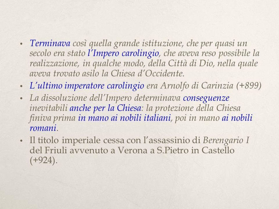 Papa Niccolò I (858-867) Un romano di nobile famiglia, il papa più importante del secolo IX.