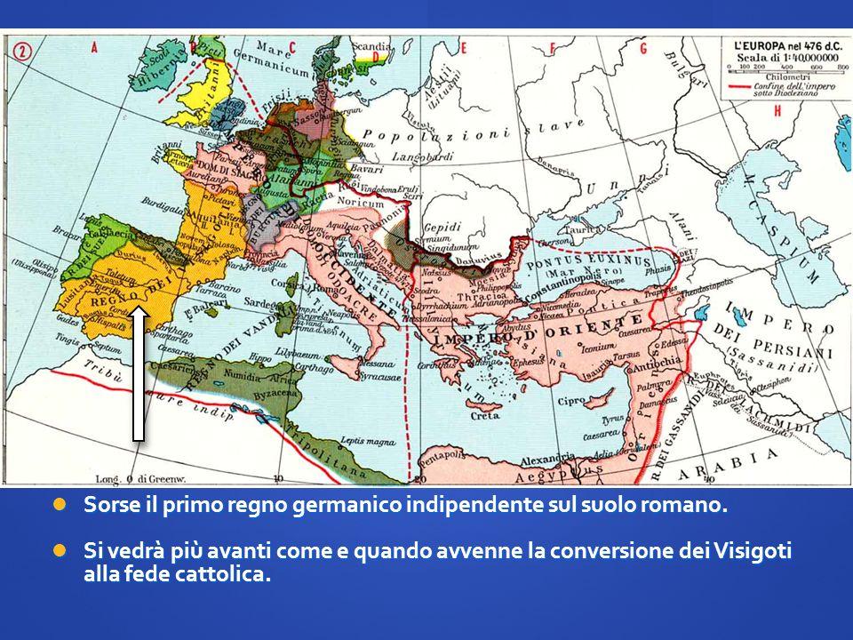 Sorse il primo regno germanico indipendente sul suolo romano. Sorse il primo regno germanico indipendente sul suolo romano. Si vedrà più avanti come e