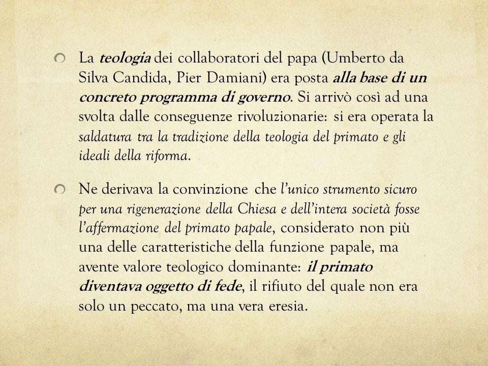 La teologia dei collaboratori del papa (Umberto da Silva Candida, Pier Damiani) era posta alla base di un concreto programma di governo. Si arrivò cos