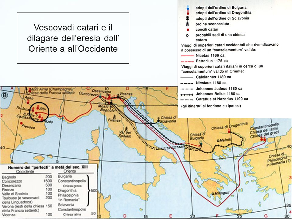 Centro territoriale delleresia catara nella Francia meridionale