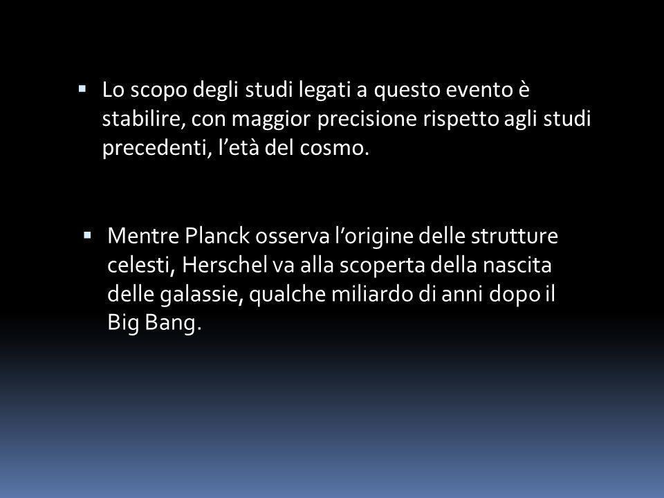 Lo scopo degli studi legati a questo evento è stabilire, con maggior precisione rispetto agli studi precedenti, letà del cosmo. Mentre Planck osserva