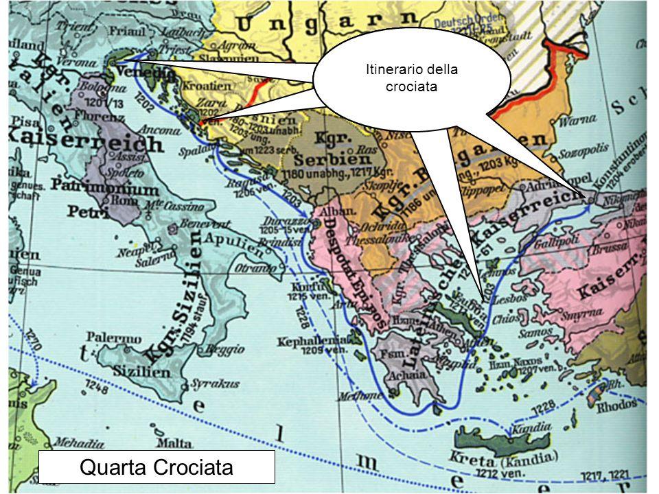 Quarta Crociata Itinerario della crociata