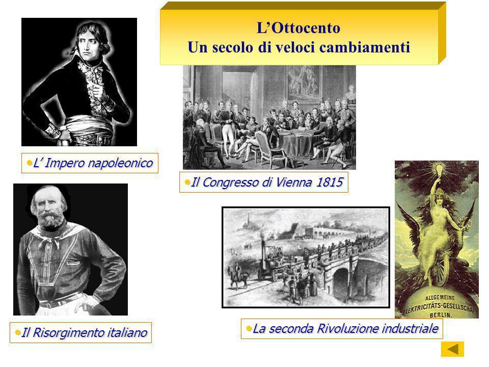 La seconda Rivoluzione industriale La seconda Rivoluzione industriale Il Congresso di Vienna 1815 Il Congresso di Vienna 1815 L Impero napoleonico L I