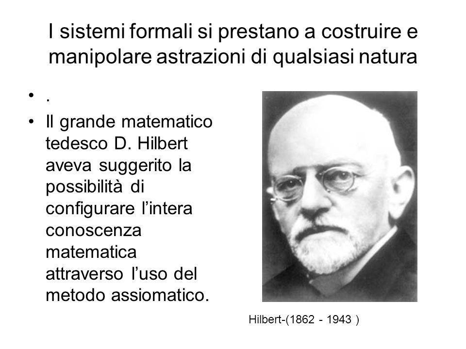 PROPRIETA 1)Coerenza o non-contraddittorietà: un sistema formale non può produrre assieme una proposizione P e la sua contraddizione non-P; 2)Complete