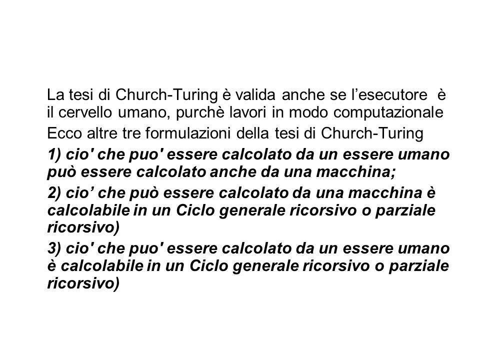 Church e Turing arrivarono agli stessi risultati. indipendentemente e per mezzo di strade molto diverse. Church nel 1936 pubblicò un trattato nel qual