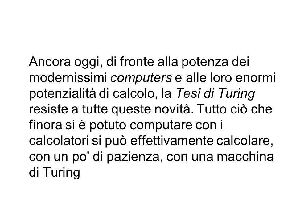 Non esiste un formalismo più potente della macchina di Turing in termini computazionali. Quindi tutto ciò che non è calcolabile dalla TM non può esser