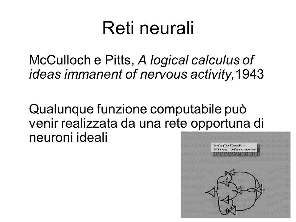 Von Neumann fu sicuramente influenzato da un articolo di Pitts e McCulloch sulla struttura dei neuroni cerebrali (1943) che metteva in evidenza la nat
