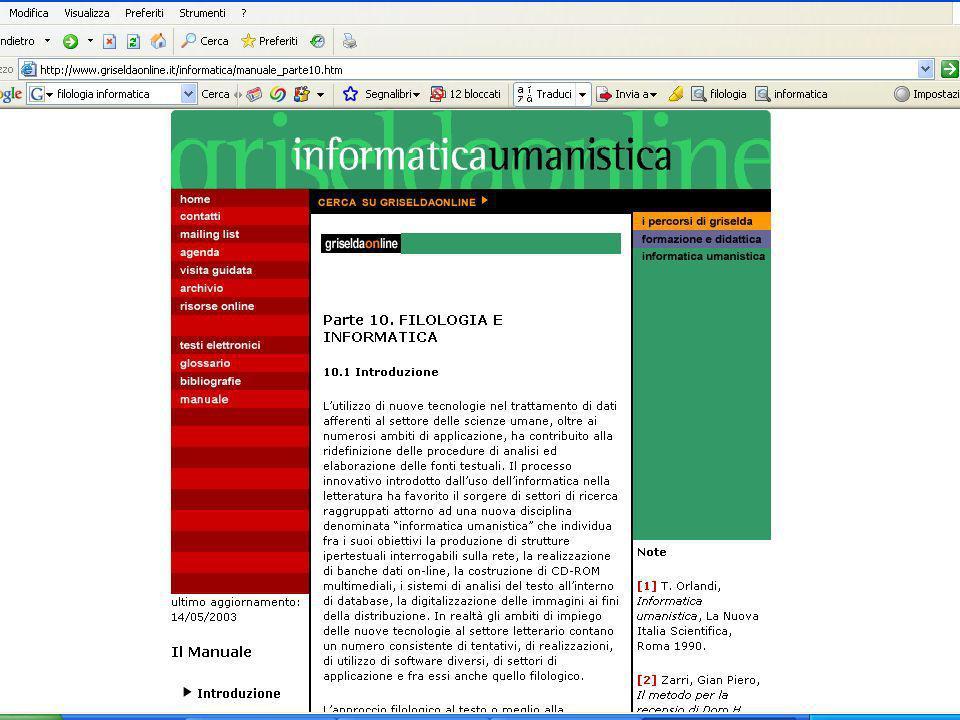 Università di Roma la Sapienza, Facoltà di Scienze Umanistiche INFORMATICA PER SCIENZE UMANE (Corso di Studio in Lettere) Anno di corso: I Il modulo f