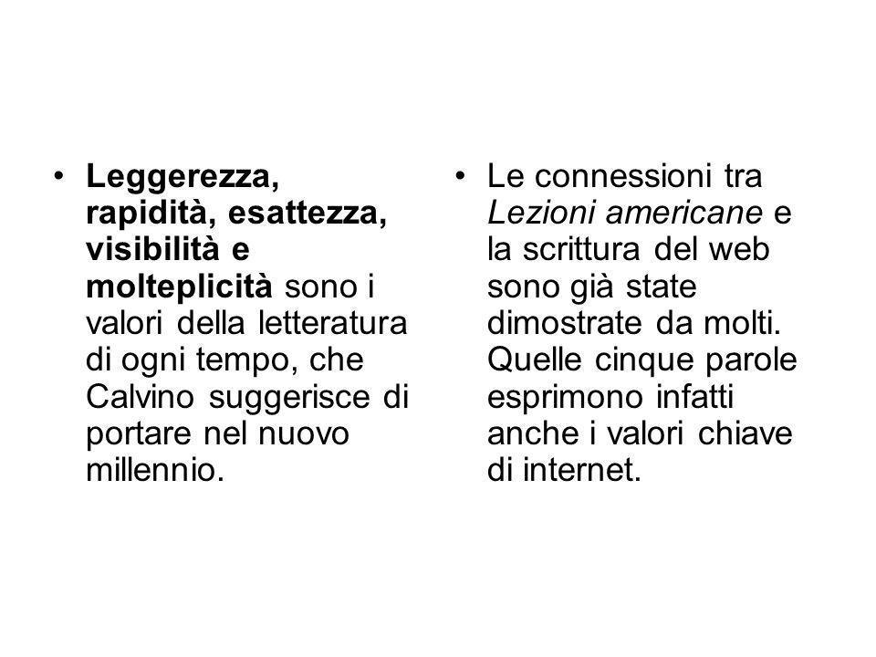 Il giornalista Alessandro Lucchini commenta così le Lezioni americane l'ultimo scritto di Italo Calvino. Rimaste incomplete per la sua morte improvvis